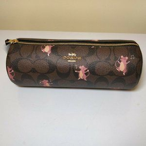 COACH Makeup Brush Holder Canvas Party Mouse